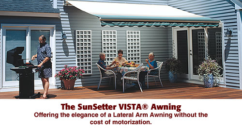 An Excellent Value For Budget Conscious Homeowners Who Still Demand The High Quality Lateral Arm Technology And Look SunSetter VISTA Awning